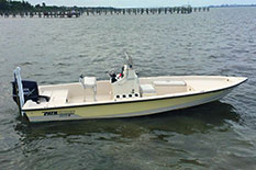 22ft Pathfinder fishing boat.