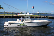 The DayMaker, a 34ft SeaVee charter boat.