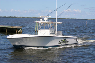 The DayMaker - a 34ft fishing charter boat.